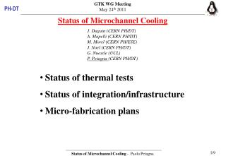 Status of  Microchannel  Cooling