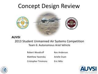 Concept Design Review