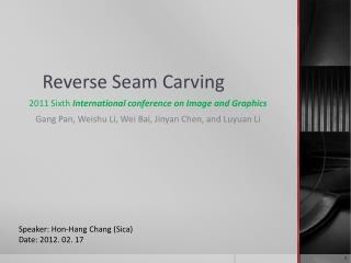 Reverse Seam Carving