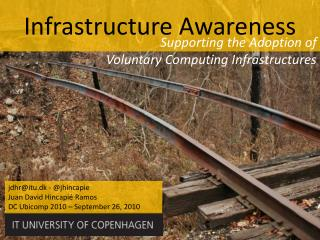 Supporting the Adoption of  Voluntary Computing Infrastructures