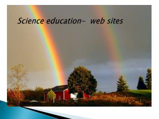 Science education-  web sites