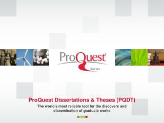 ProQuest Dissertations & Theses (PQDT)