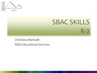 SBAC Skills K-2