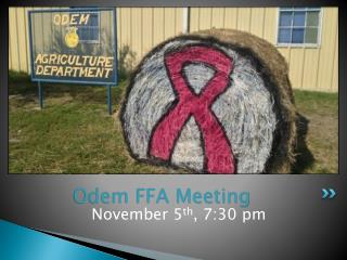 Odem FFA Meeting
