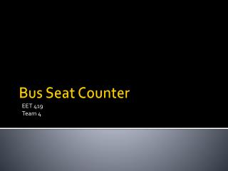 Bus Seat Counter