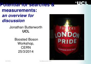 Potential for searches &  measurements: an overview for  discussion