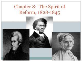Chapter 8:  The Spirit of Reform, 1828-1845