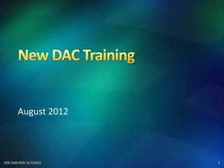 New DAC Training