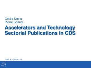 Accelerators and Technology Sectorial Publications in CDS