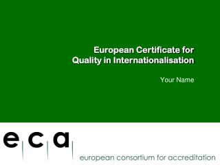 European Certificate for  Quality in Internationalisation
