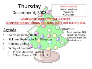 Thursday December  4,  2008