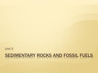 Sedimentary Rocks and Fossil fuels