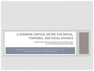 A common cortical metric for spatial, temporal, and social distance