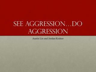 See Aggression…do aggression
