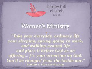 Women�s Ministry