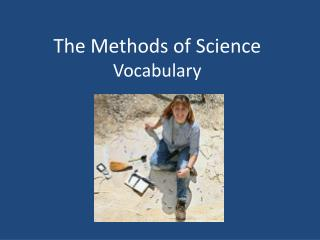 The Methods of Science Vocabulary