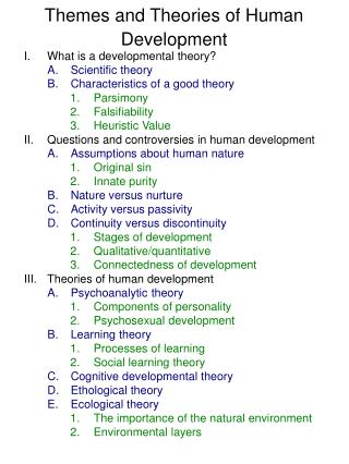 Themes and Theories of Human Development