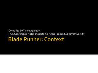Blade Runner: Context