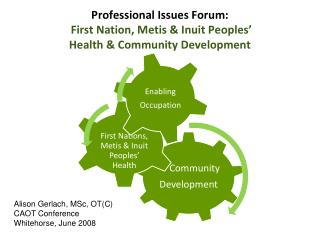 Professional Issues Forum:  First Nation, Metis  Inuit Peoples   Health  Community Development