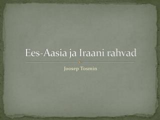 Ees-Aasia ja Iraani rahvad