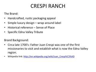 CRESPI RANCH