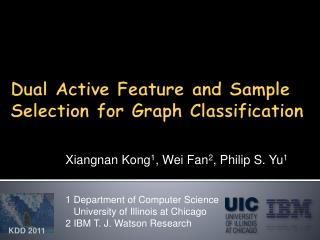 Dual Active Feature and Sample Selection for Graph Classification