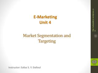 Market Segmentation and Targeting