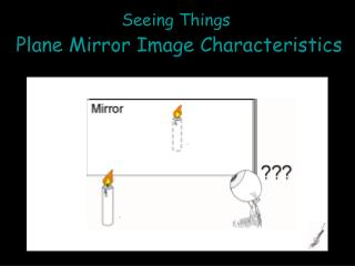 Seeing Things Plane Mirror Image Characteristics