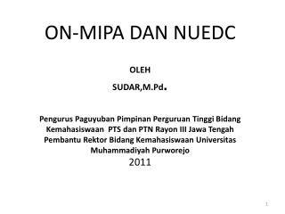 A.ON MIPA PTN/PTS