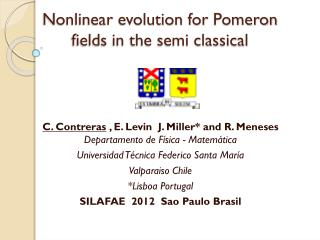 Nonlinear evolution for  Pomeron fields in the semi classical