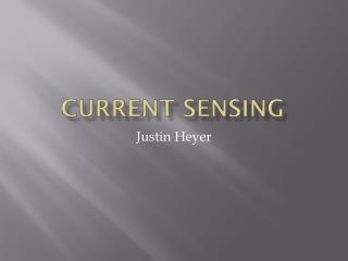 Current Sensing