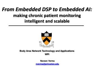 From Embedded DSP to Embedded AI: making chronic patient monitoring  intelligent and scalable