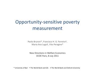 Opportunity-sensitive poverty measurement