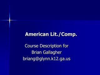 American Lit./Comp .
