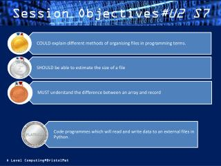 Session Objectives #U2 S7