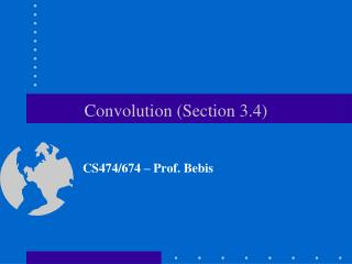 Convolution Section 3.4