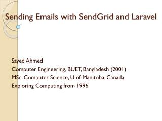 Sending Emails with  SendGrid and  Laravel