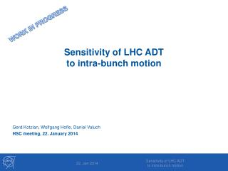 Sensitivity of LHC ADT  to  intra-bunch  motion