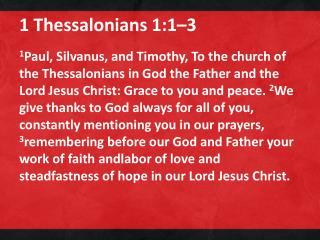 1 Thessalonians 1:1–3