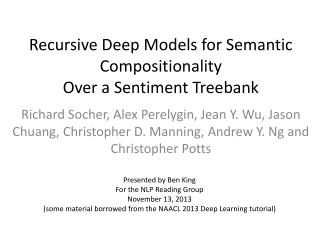 Recursive Deep Models for Semantic Compositionality Over a Sentiment Treebank