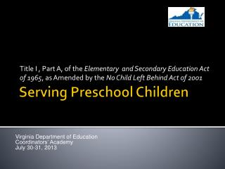 Serving Preschool Children
