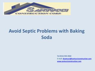 Avoid Septic Problems with Baking Soda