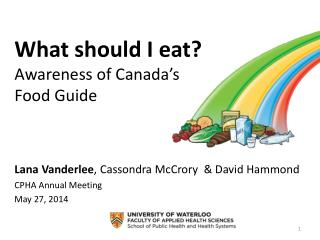 What should I eat? Awareness of Canada's  Food Guide