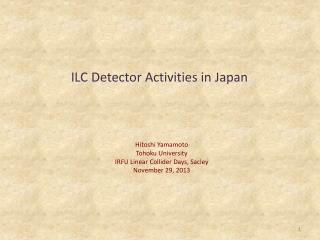 ILC Detector Activities in  Japan