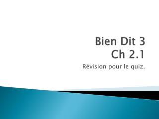 Bien  Dit  3 Ch 2.1