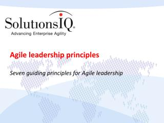 Agile leadership principles