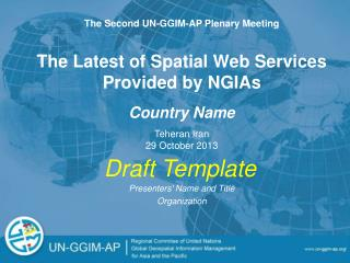 The Latest of Spatial Web Services Provided by NGIAs