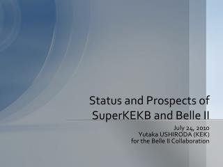 Status and Prospects of  SuperKEKB  and Belle II