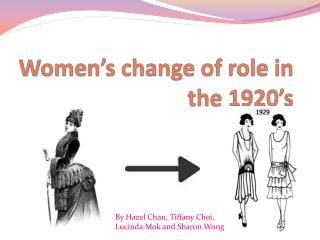 Women's change of role in the 1920's