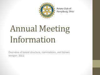 Annual Meeting Information